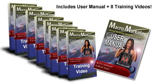 Macro Marketer Training Module - 8 videos and user manual
